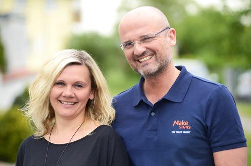 Alicja & Jochen Nees - Makesigns Mediendesign in Linkenheim-Hochstetten: Werbung, Marketing, Design und Textildruck. Offizieller Stanley & Stella Händler.