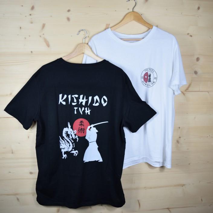 Vereins T-Shirts in schwarz und weiss beidseitig bedruckt für den TVH Hochstetten
