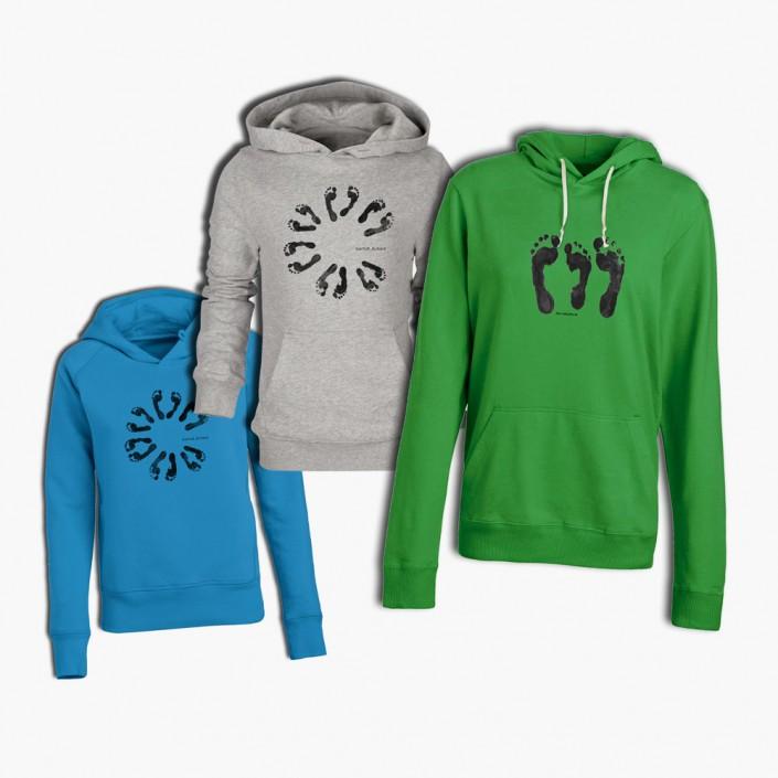 Einzelne Bedruckte Hoodies in verschiedenen Farben für Privatpersonen.