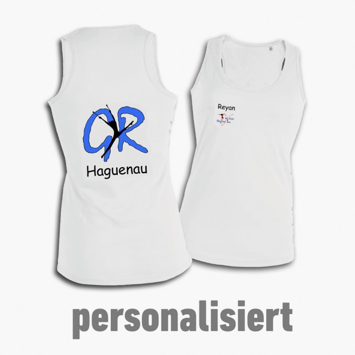 Personalisierte, beidseitig bedruckte Tank-Tops für den Verein GR Haguenau.