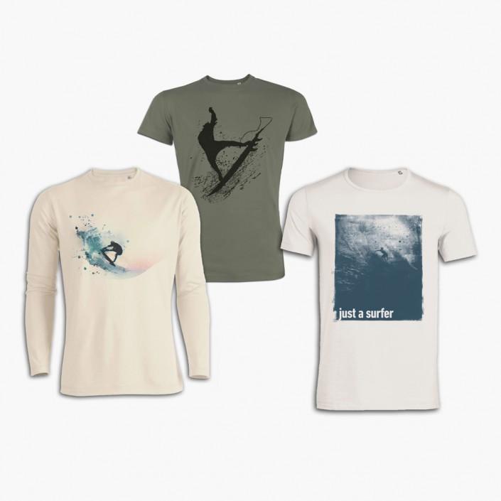 Gestaltung und Entwurf von Design-T-Shirts.