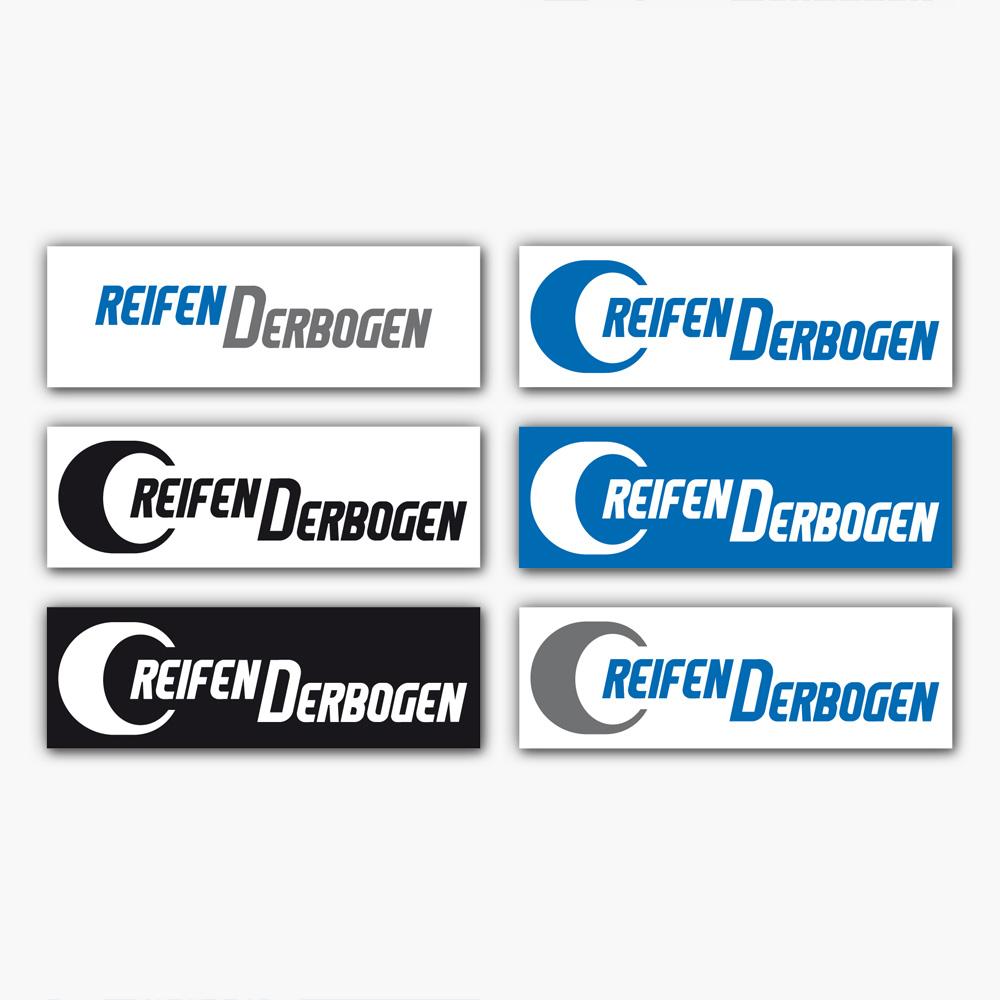 Logoentwicklung der Firma REIFEN DERBOGEN GmbH.