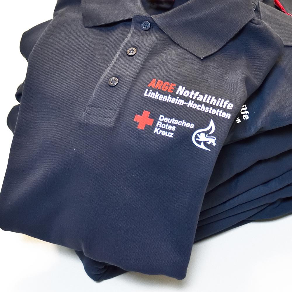 Poloshirts für die ARGE Notfallhilfe Linkenheim-Hochstetten